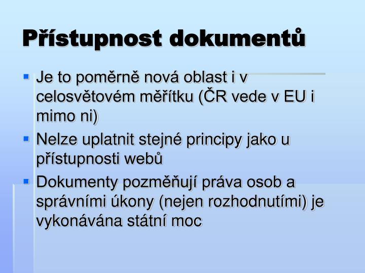 Přístupnost dokumentů