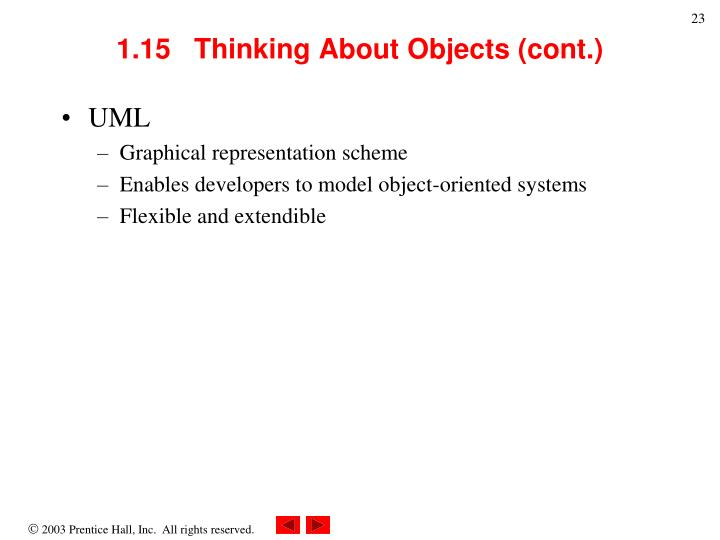1.15   Thinking About Objects (cont.)