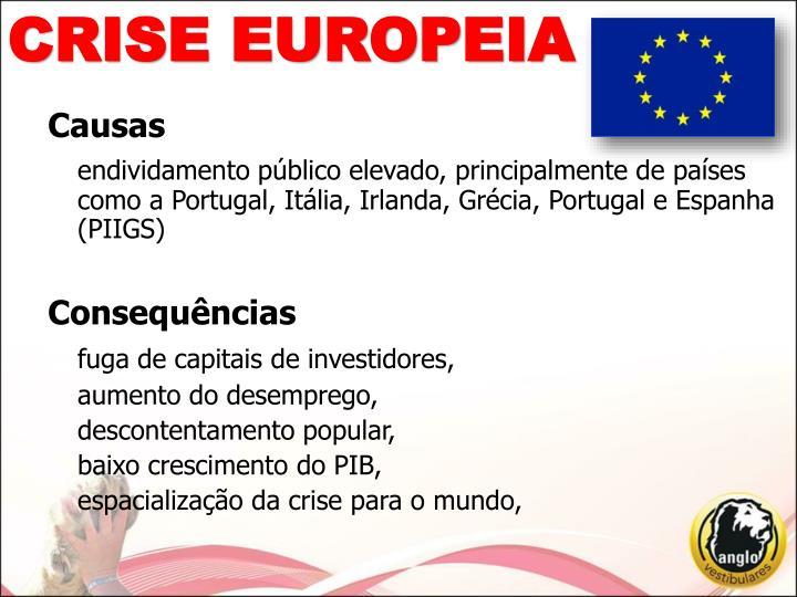 CRISE EUROPEIA