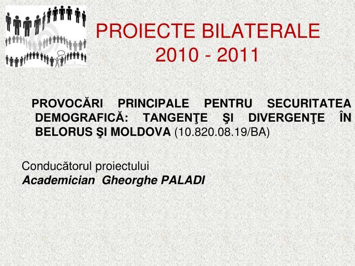 PROIECTE BILATERALE