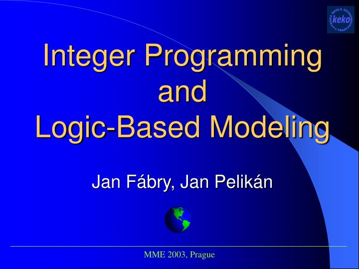 Integer Programming and