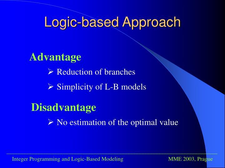 Logic-based Approach