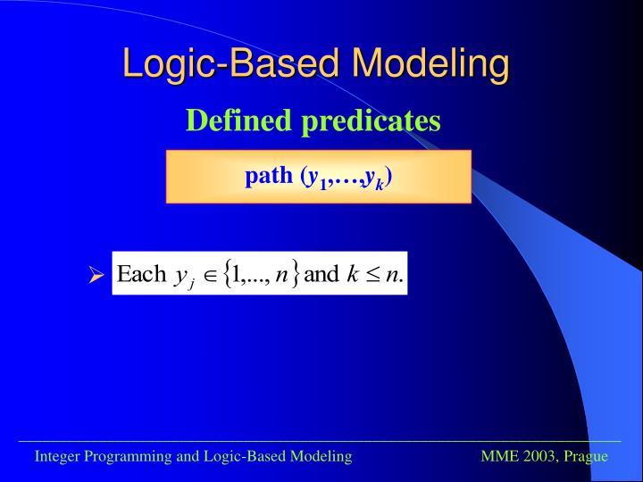 Logic-Based Modeling
