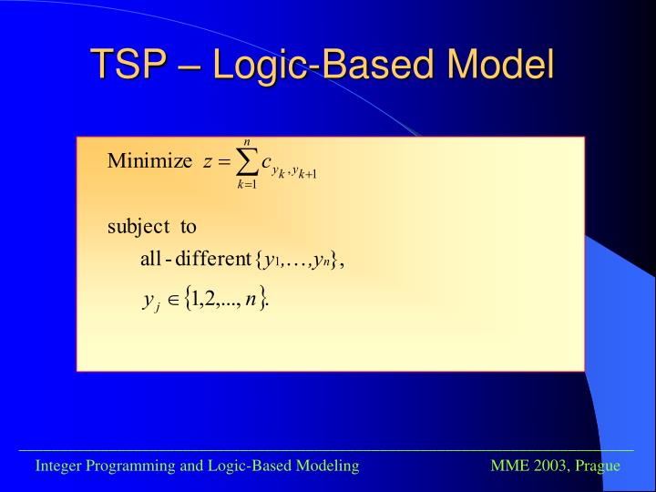 TSP – Logic-Based Model