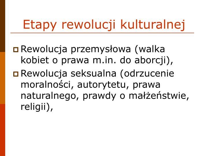 Etapy rewolucji kulturalnej