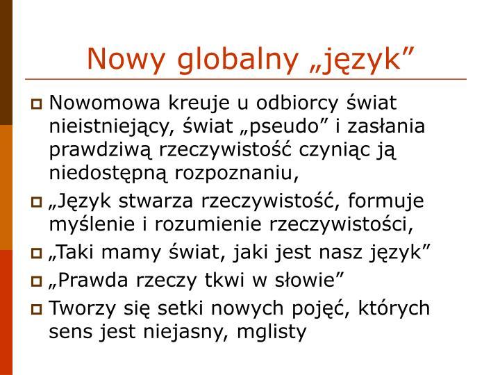 """Nowy globalny """"język"""""""