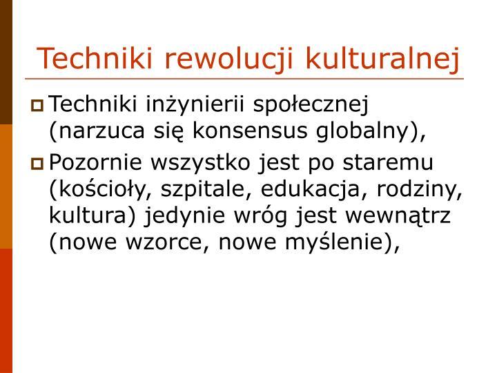 Techniki rewolucji kulturalnej