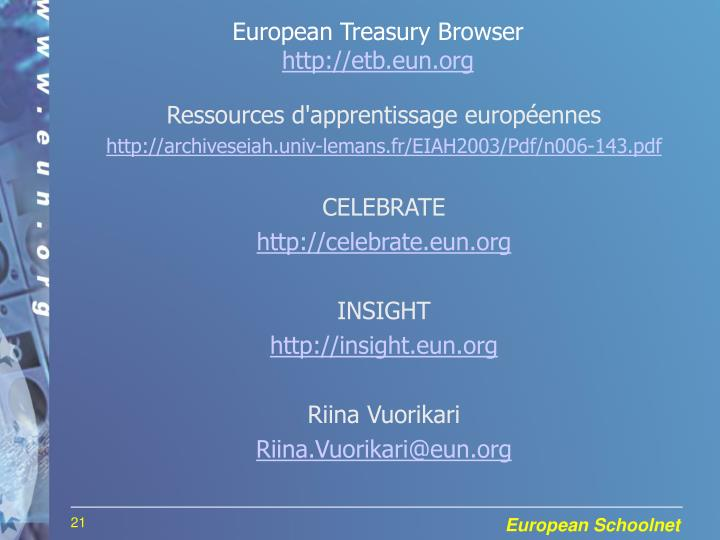 European Treasury Browser