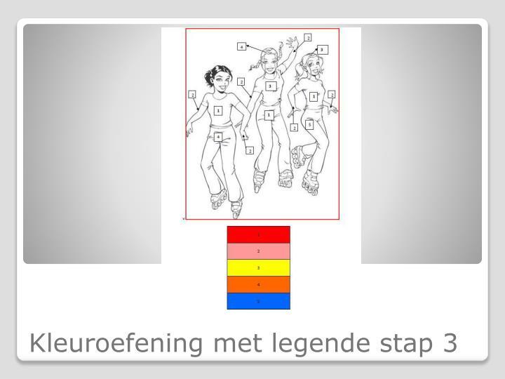 Kleuroefening met legende stap 3