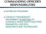 commanding officer s responsibilities
