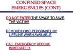 confined space emergencies cont