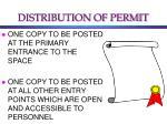 distribution of permit