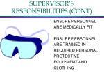 supervisor s responsibilities cont4