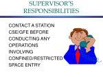 supervisor s responsibilities