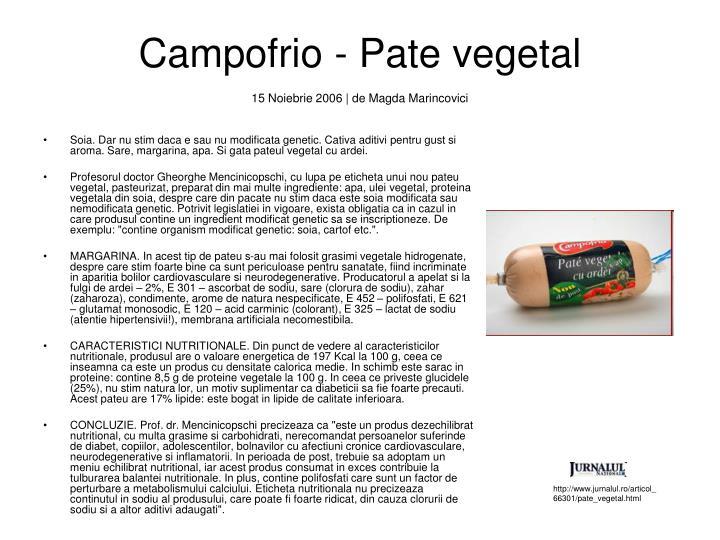 Campofrio - Pate vegetal