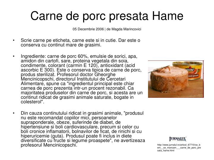 Carne de porc presata Hame