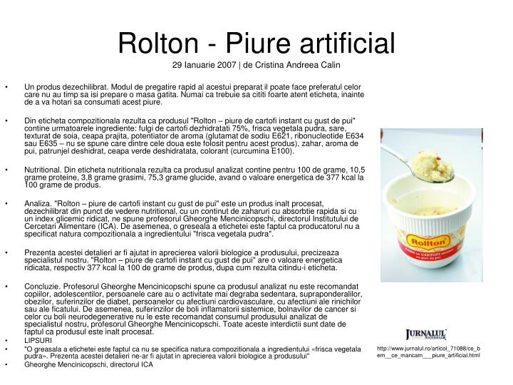 Rolton - Piure artificial