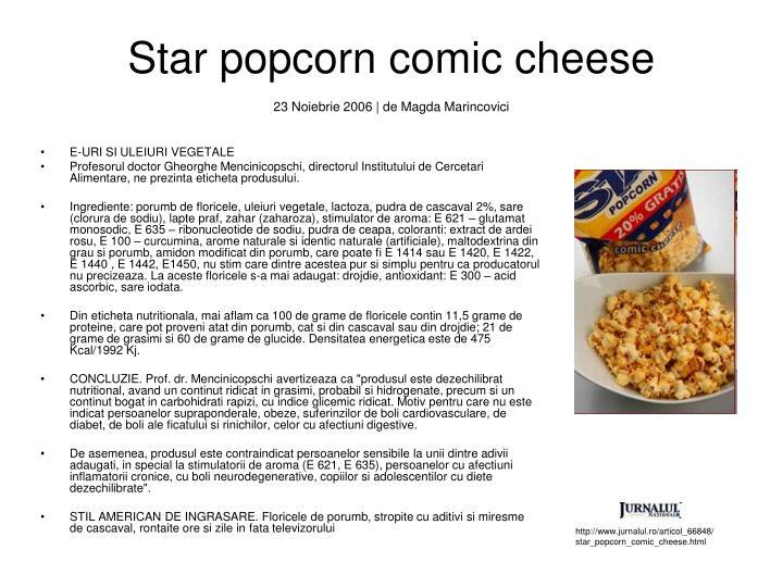 Star popcorn comic cheese
