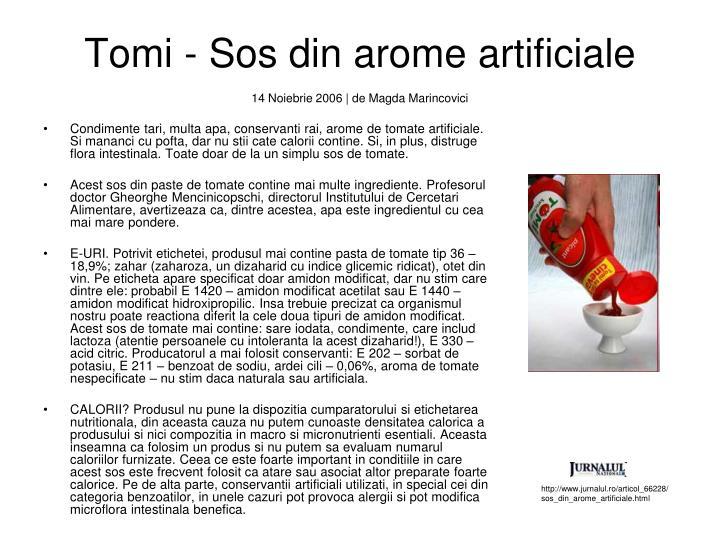 Tomi - Sos din arome artificiale