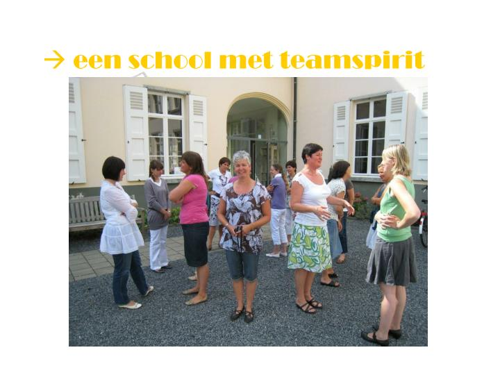  een school met teamspirit