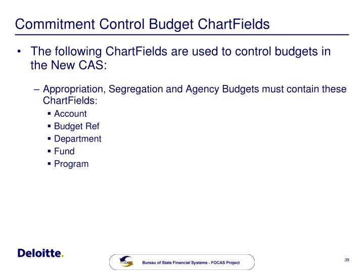 Commitment Control Budget ChartFields