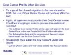 cost center profile after go live