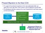 phased migration to the new coa