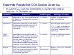 statewide peoplesoft coa design overview