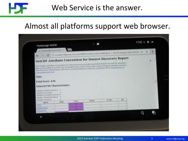 Web Service is the answer.