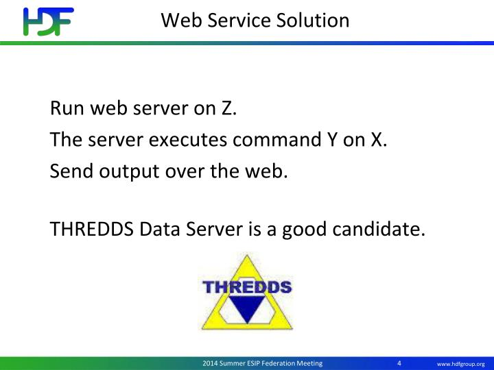 Web Service Solution