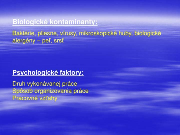 Biologické kontaminanty: