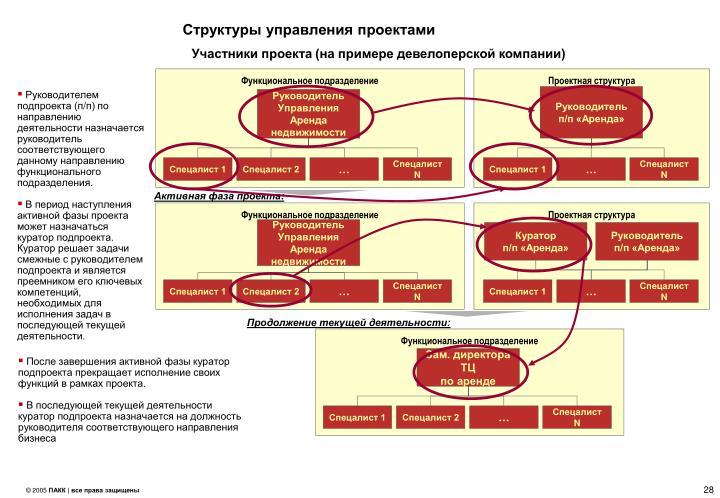 Структуры управления проектами