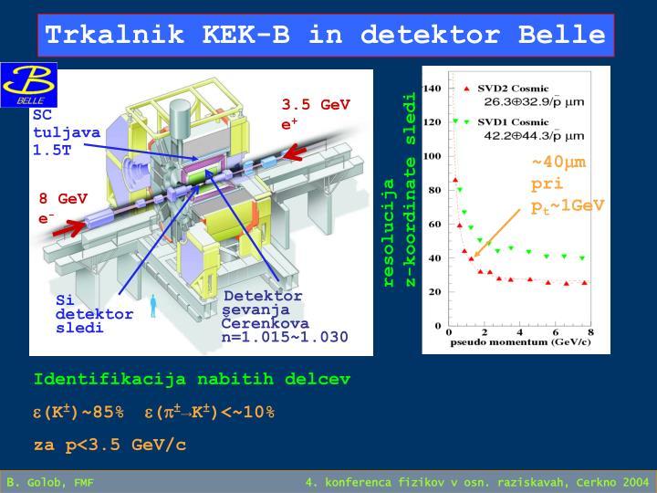 Trkalnik KEK-B in detektor Belle