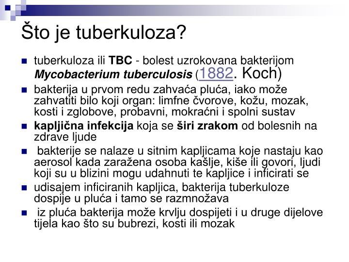 Što je tuberkuloza?