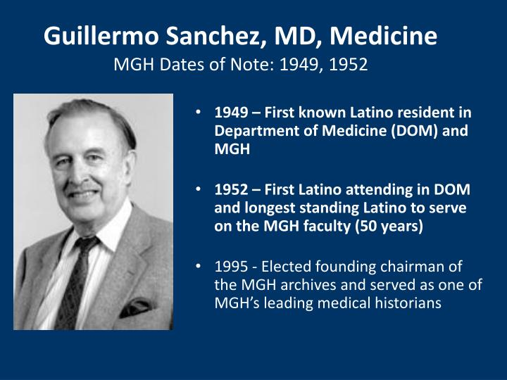 Guillermo Sanchez, MD, Medicine