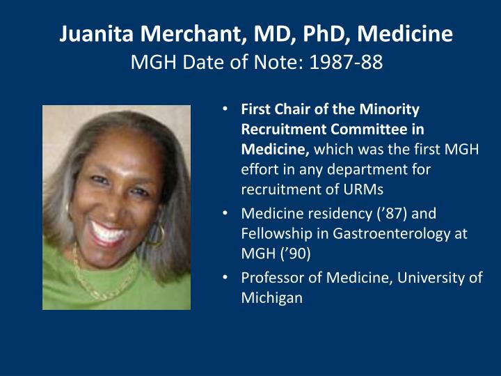 Juanita Merchant, MD, PhD, Medicine
