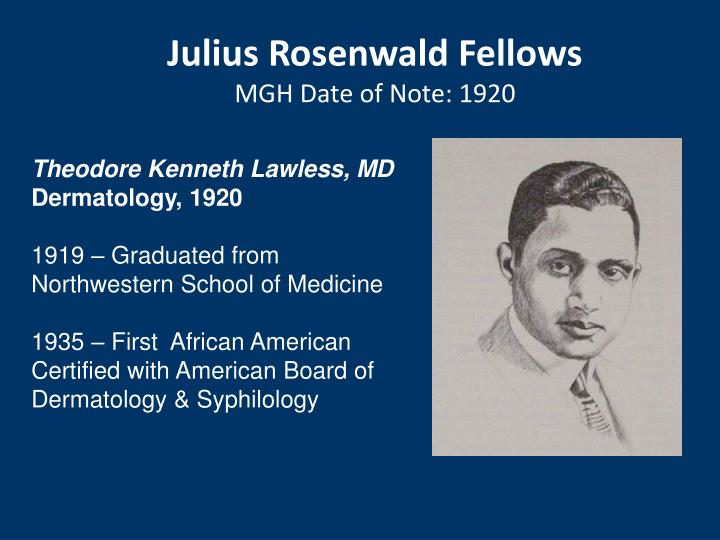 Julius Rosenwald Fellows