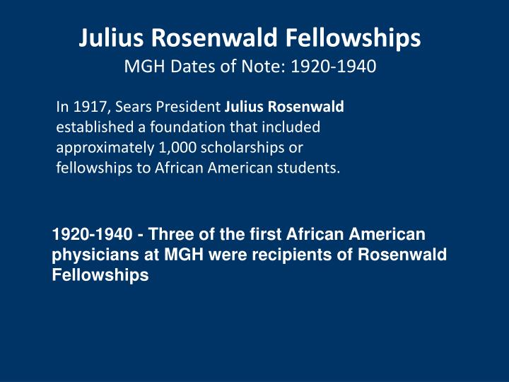 Julius Rosenwald Fellowships