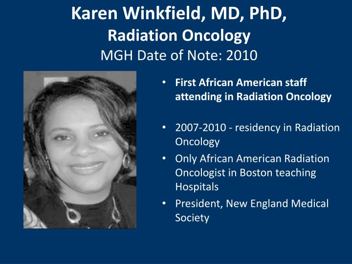 Karen Winkfield, MD, PhD,