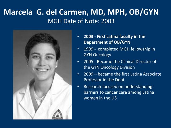 Marcela  G. del Carmen, MD, MPH, OB/GYN