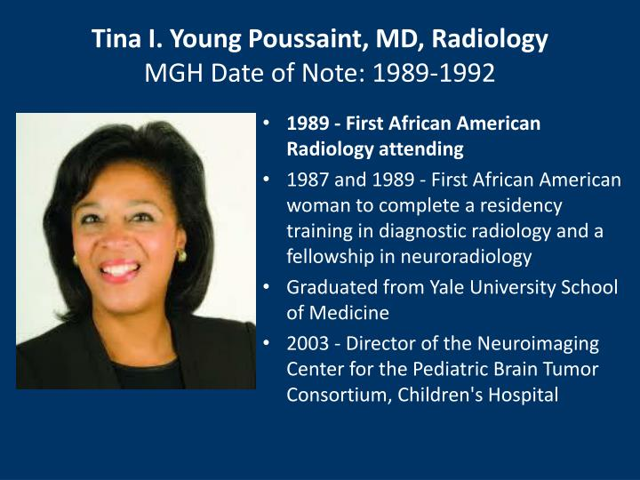 Tina I. Young Poussaint, MD, Radiology