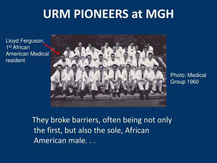 Urm pioneers at mgh