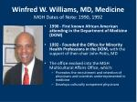 winfred w williams md medicine mgh dates of note 1990 1992