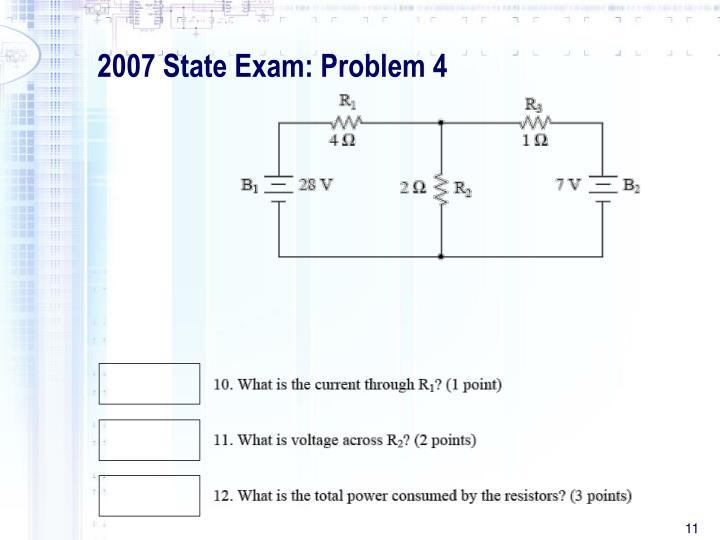 2007 State Exam: Problem 4