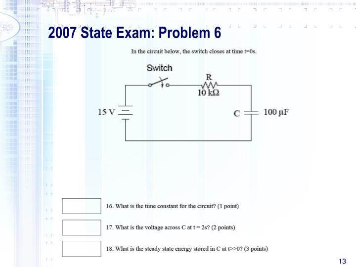 2007 State Exam: Problem 6