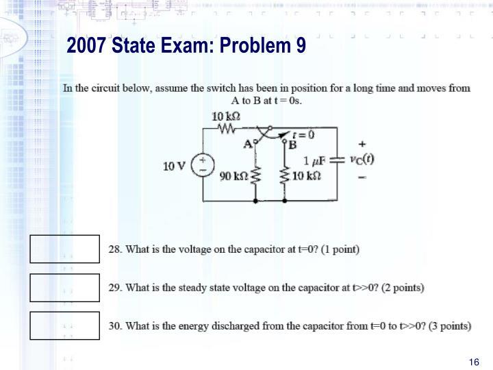 2007 State Exam: Problem 9