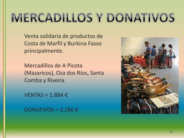 MERCADILLOS Y DONATIVOS