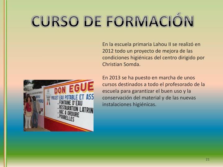 CURSO DE FORMACIÓN
