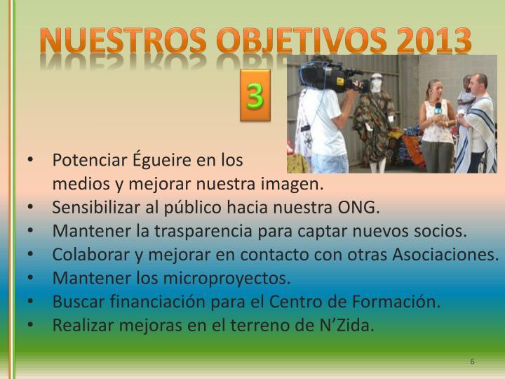 Nuestros objetivos 2013