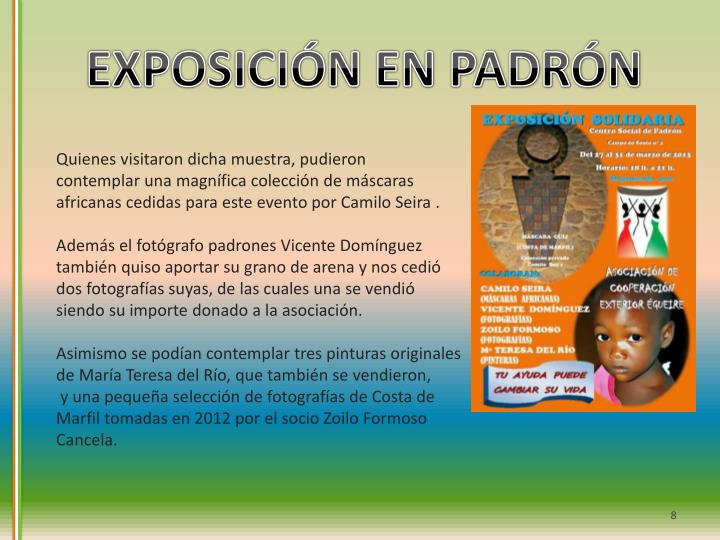 EXPOSICIÓN EN PADRÓN